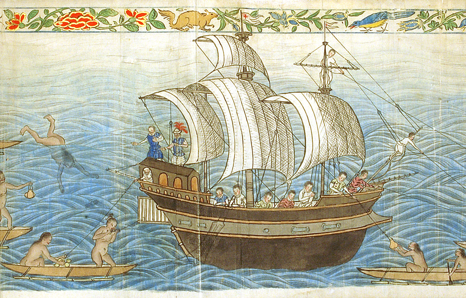 Spanish ship in the Philippines from the 'Boxer Codex' (c. 1595)