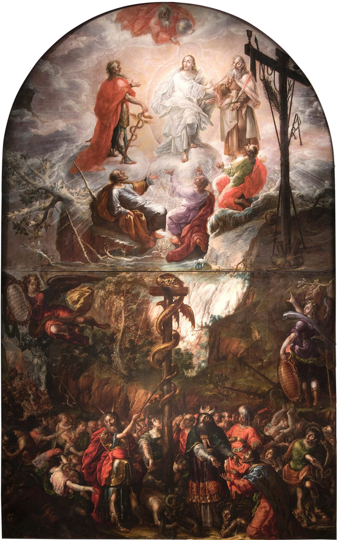 Moses and the Brazen Serpent and the Transfiguration of Jesus, Cristóbal de Villalpando (1683)